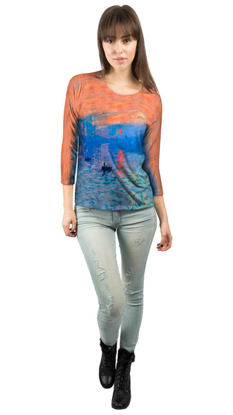 "Claude Monet - ""Impression Sunrise"" (1873) Womens 3/4 Sleeve"
