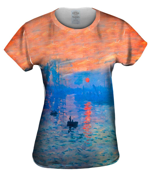 "Claude Monet - ""Impression Sunrise"" (1873) Womens Top"