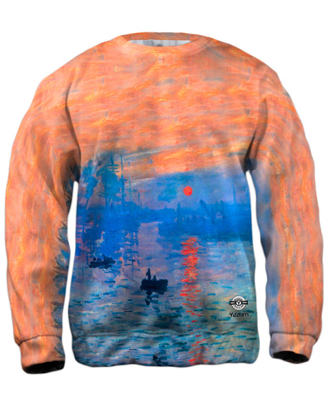 "Claude Monet - ""Impression Sunrise"" (1873) Mens Sweatshirt"
