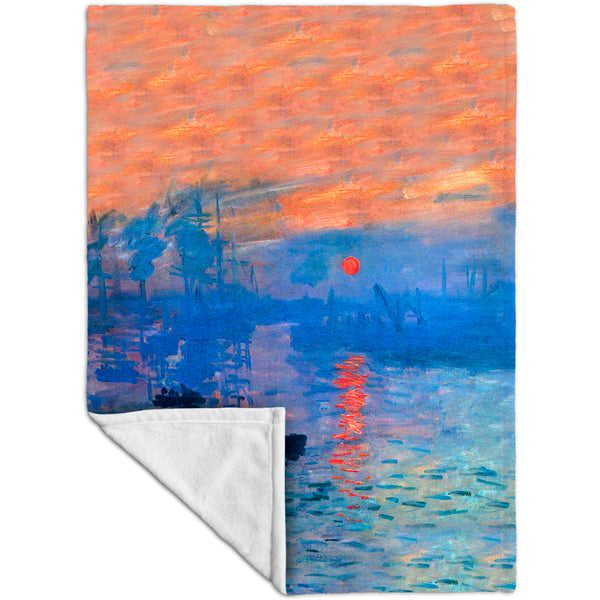 "Claude Monet - ""Impression Sunrise"" (1873) Velveteen (MicroFleece)"
