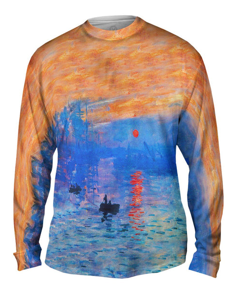 "Claude Monet - ""Impression Sunrise"" (1873) Mens Long Sleeve"