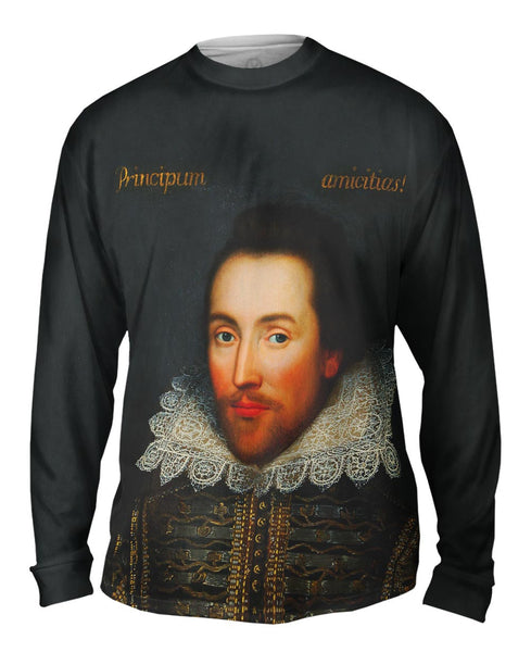 "Cobbe - ""Portrait Of William Shakespeare"" (1610) Mens Long Sleeve"