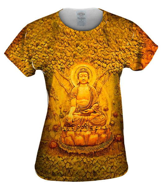 """Buddha Under A Tree Statue"" Womens Top"