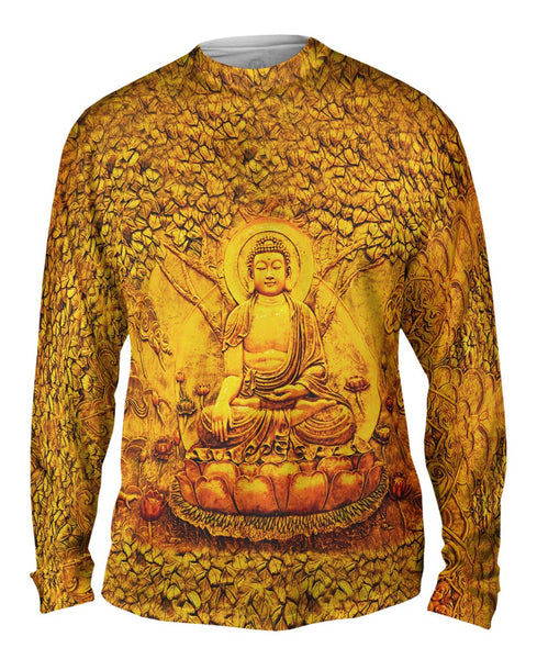 """Buddha Under A Tree Statue"" Mens Long Sleeve"