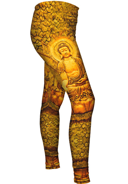 """Buddha Under A Tree Statue"" Womens Leggings"