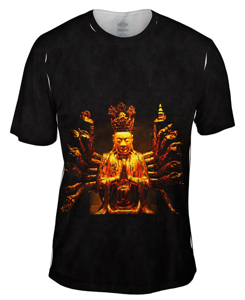 """Golden Buddha Statue"" Mens T-Shirt"