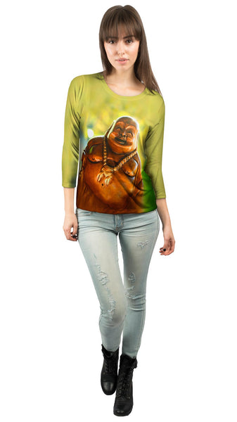 """Laughing Buddha"" Womens 3/4 Sleeve"