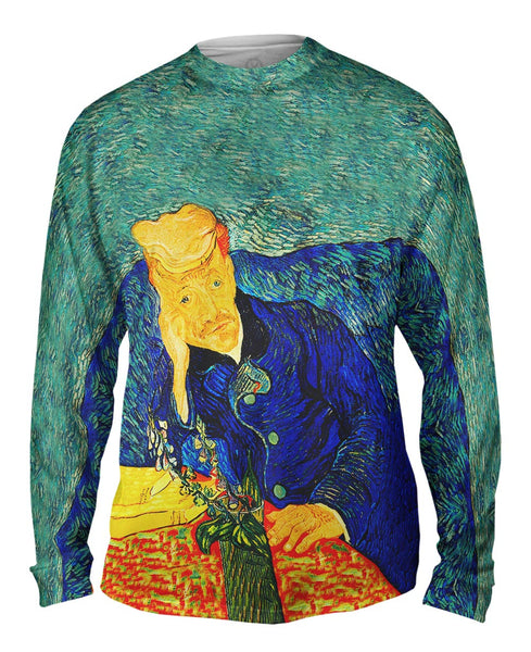 "Vincent Van Gogh - ""Portrait Of Dr Gachet"" (1890) Mens Long Sleeve"