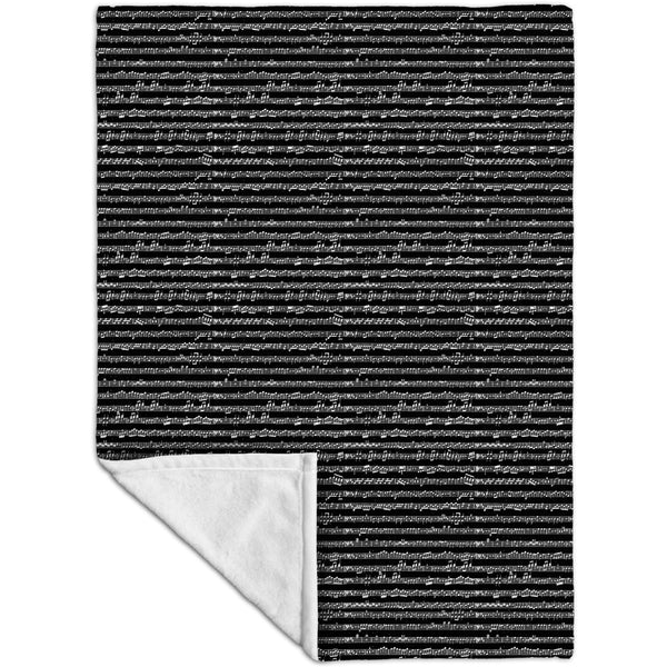 "Sheet Music Notes - ""Wolfgang Amadeus Mozart"" Fleece Blanket"