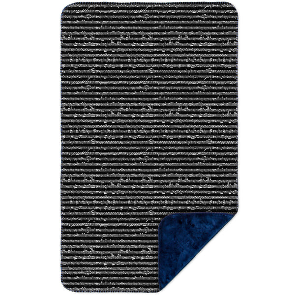 "Sheet Music Notes - ""Wolfgang Amadeus Mozart"" MicroMink(Whip Stitched) Navy"