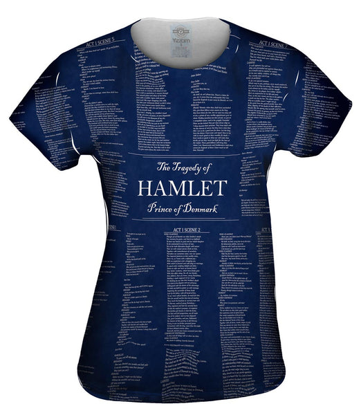 "William Shakespeare Literature - ""The Tragedy Of Hamlet"" (1560) Womens Top"