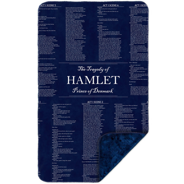 "William Shakespeare Literature - ""The Tragedy Of Hamlet"" (1560) MicroMink(Whip Stitched) Navy"