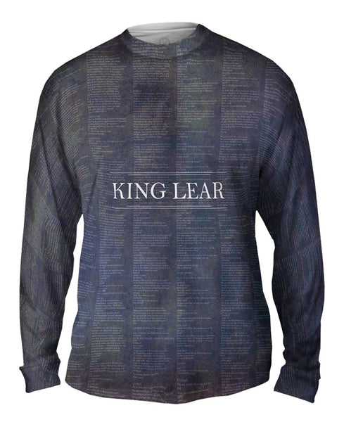 "William Shakespeare Literature - ""King Lear"" (1606) Mens Long Sleeve"