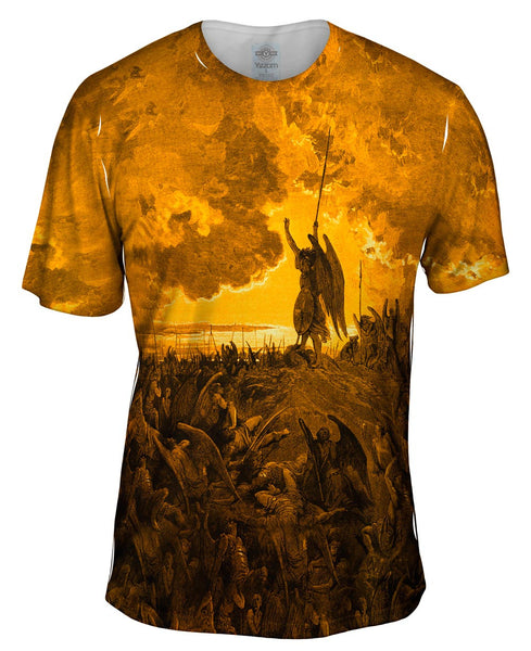"Gustave Dore - ""Paradise Lost 3 Gold"" (1857) Mens T-Shirt"