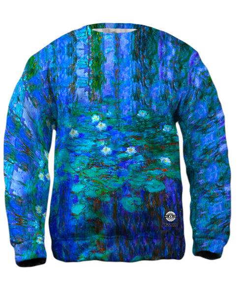 "Claude Monet - ""Blue Water Lilies"" (1916) Mens Sweatshirt"