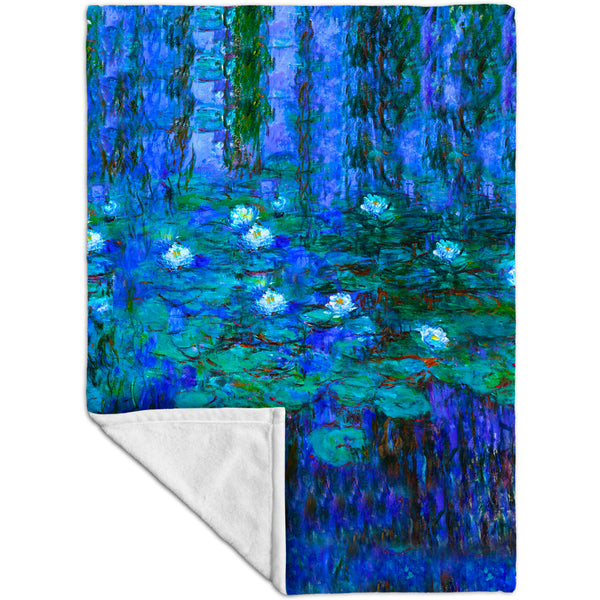 "Claude Monet - ""Blue Water Lilies"" (1916) Fleece Blanket"