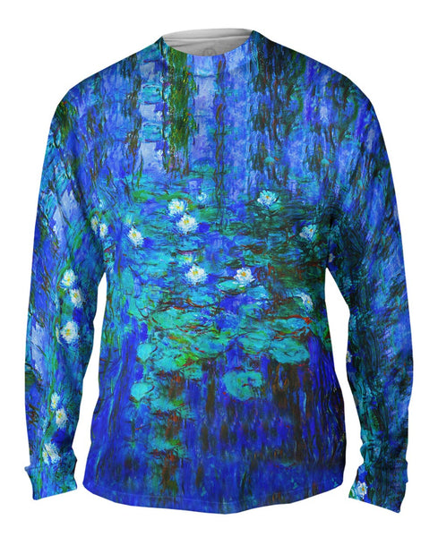 "Claude Monet - ""Blue Water Lilies"" (1916) Mens Long Sleeve"