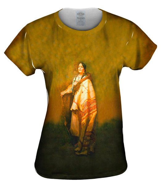 "Native American Art - ""Handsome Morning A Dakota"" (1921) Womens Top"