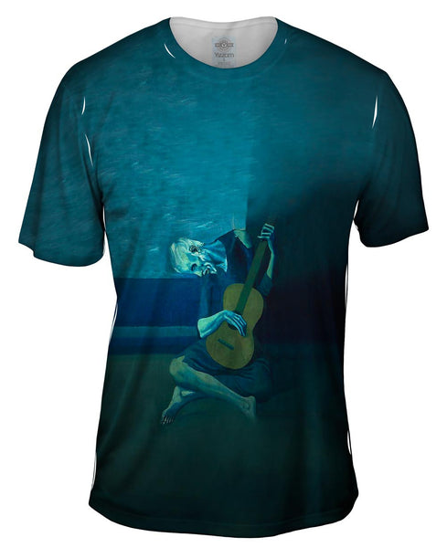 "Pablo Picasso - ""Old Guitarist"" (1903) Mens T-Shirt"