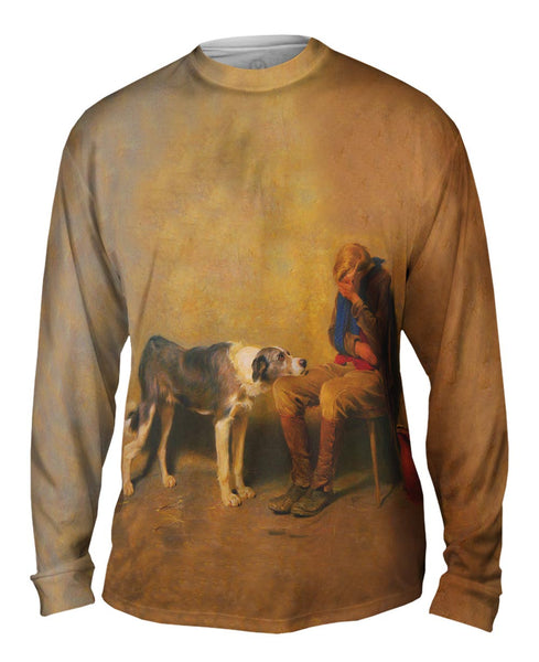"Briton Riviere - ""Fidelity"" (1869) Mens Long Sleeve"