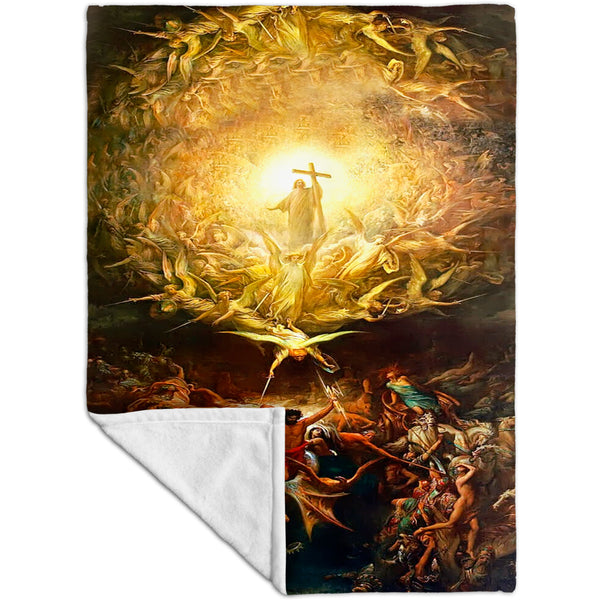 "Gustave Dore - ""Triumph Of Christianity"" (1899) Fleece Blanket"