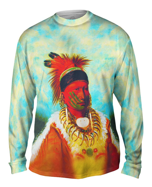 "Native American Art - ""The White Cloud Head Chief Of The Iowas"" (1844) Mens Long Sleeve"