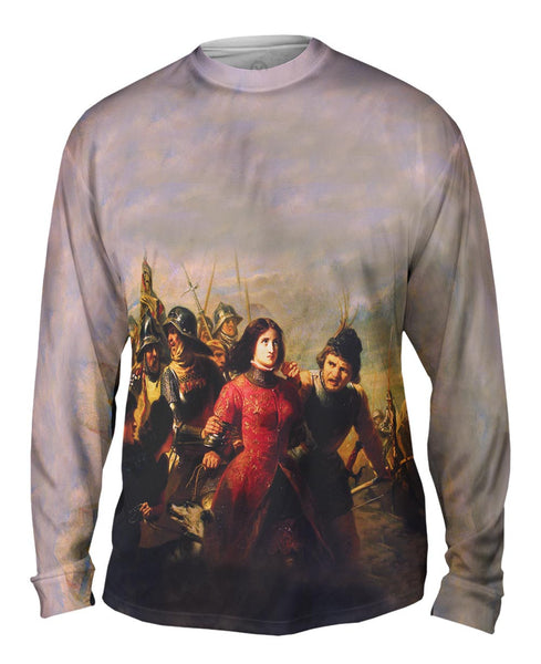 "Adolphe Alexandre Dillens - ""Capture Of Joan Of Arc"" (1852) Mens Long Sleeve"