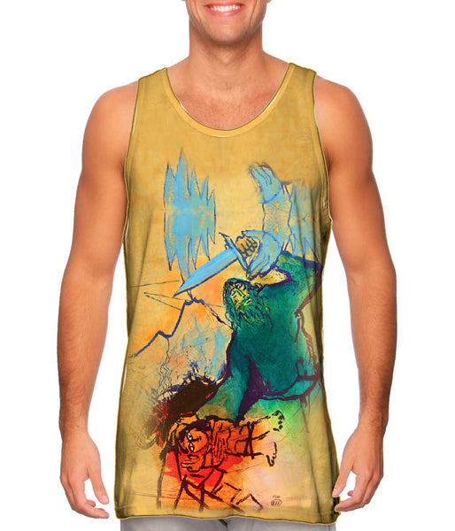 "Adi Holzer Adi Holzer - ""The Sacrifice Of Isaac"" Mens Tank Top"