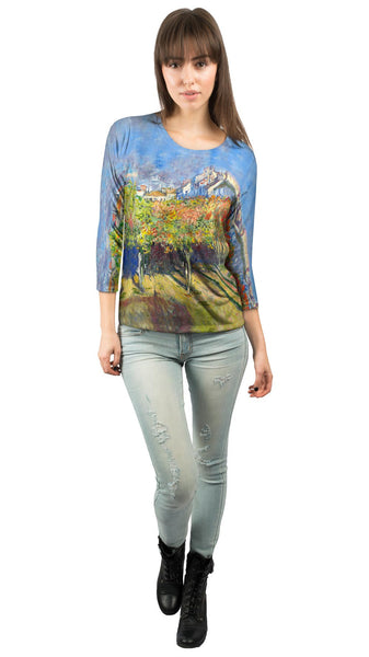 "Claude Monet - ""The Lindens Of Poissy"" (1882) Womens 3/4 Sleeve"