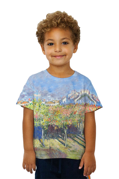 "Kids Claude Monet - ""The Lindens Of Poissy"" (1882) Kids T-Shirt"
