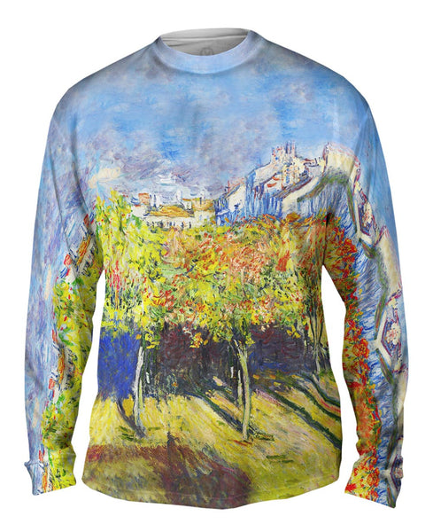 "Claude Monet - ""The Lindens Of Poissy"" (1882) Mens Long Sleeve"