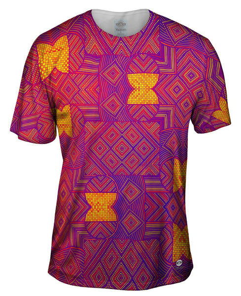 "Eugene Andolsek  - ""Just Folk African Cloth Popart Red"" Mens T-Shirt"