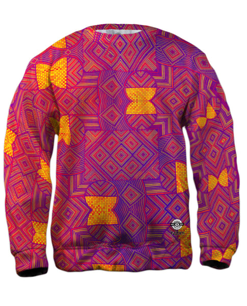 "Eugene Andolsek  - ""Just Folk African Cloth Popart Red"" Mens Sweatshirt"