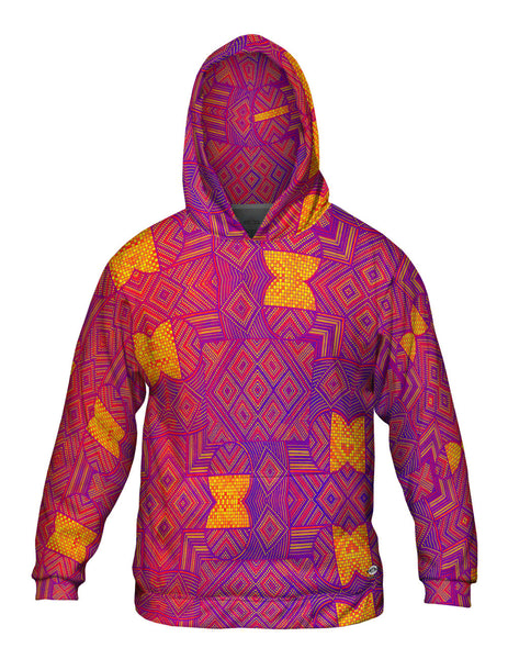 "Eugene Andolsek  - ""Just Folk African Cloth Popart Red"" Mens Hoodie Sweater"