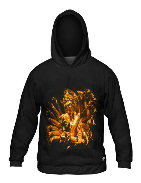 """Gold Love God Statue"" Mens Hoodie Sweater"