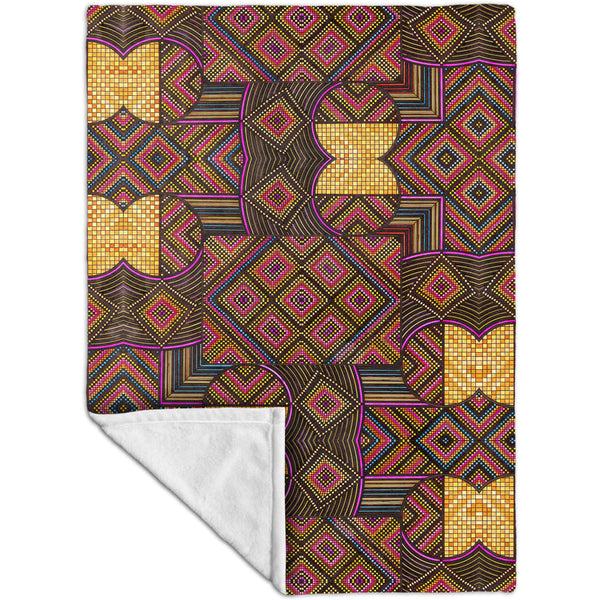 "Eugene Andolsek  - ""Just Folk African Cloth"" Fleece Blanket"