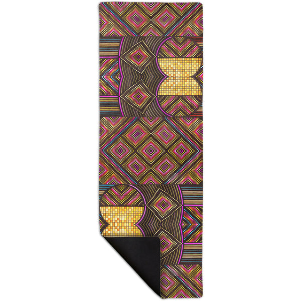 "Eugene Andolsek  - ""Just Folk African Cloth"" Yoga Mat"