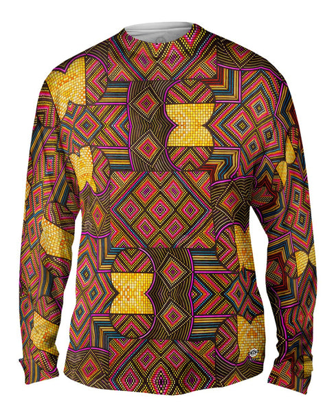 "Eugene Andolsek  - ""Just Folk African Cloth"" Mens Long Sleeve"
