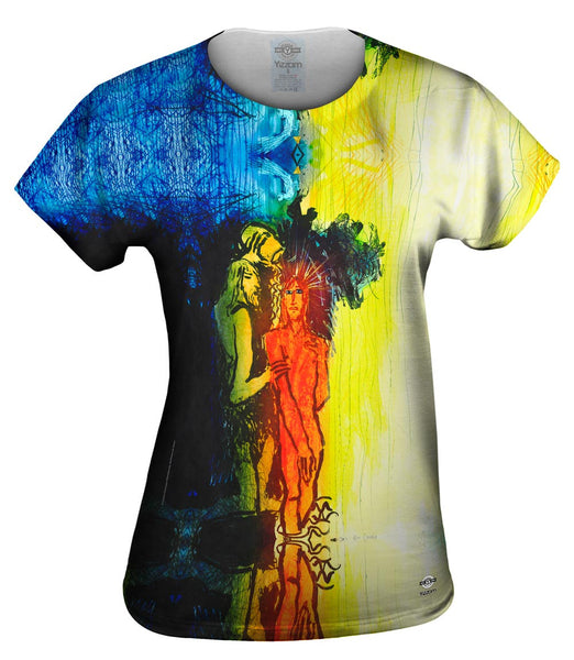 "Adi Holzer - ""John The Baptist Baptizes Jesus"" Womens Top"