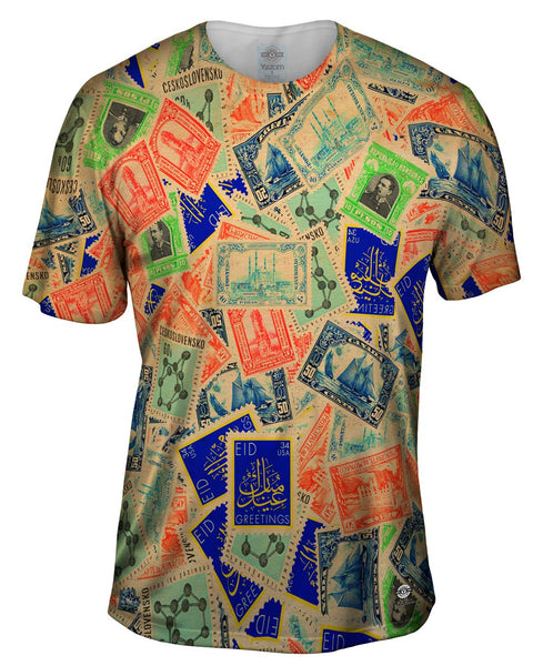 """Antique Stamp Collection"" Mens T-Shirt"
