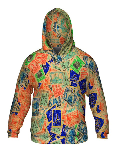 """Antique Stamp Collection"" Mens Hoodie Sweater"