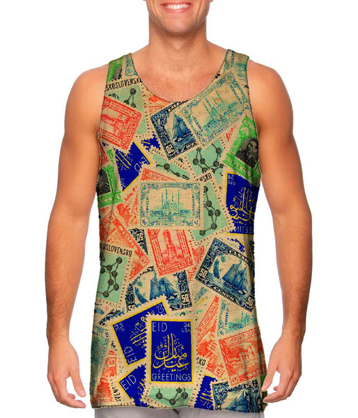 """Antique Stamp Collection"" Mens Tank Top"