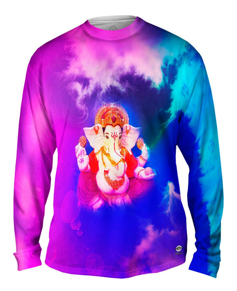 """Hindu God Ganesha Ganpathy"" Mens Long Sleeve"