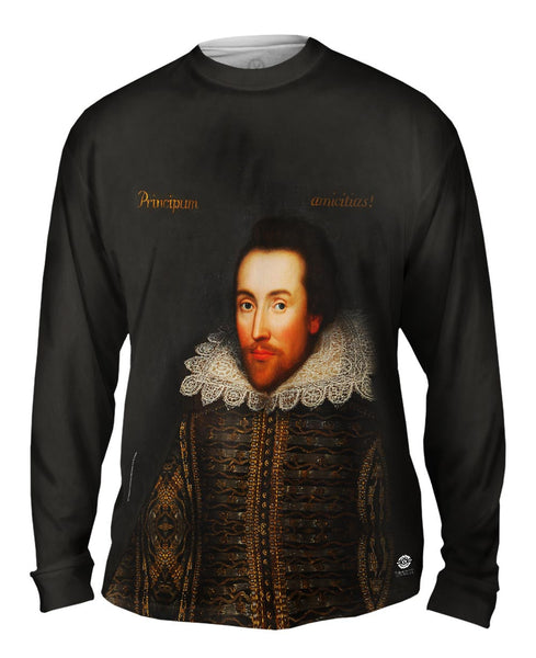 "Cobbe - ""Portrait of Shakespeare"" (1610) Mens Long Sleeve"
