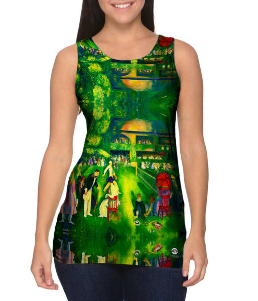"George Bellows - ""Tennis at Newport"" (1920) Womens Tank Top"