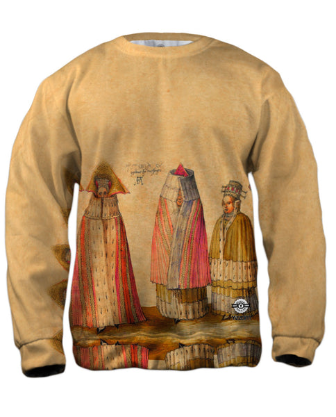 "Albrecht Durer - ""Three Mighty Ladies from Livonia"" (1521) Mens Sweatshirt"