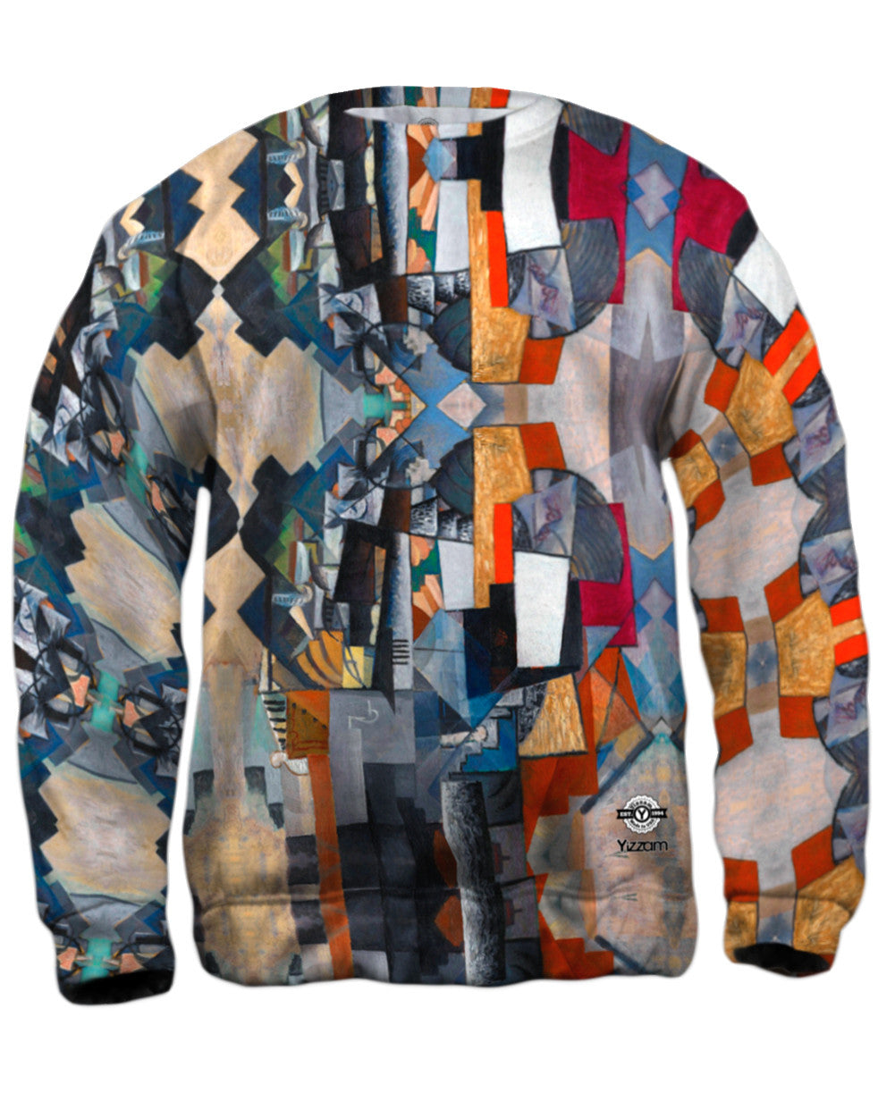 1913 Yizzam- Kazimir Malevich Bureau and Room -Allover Print Mens Hoodie