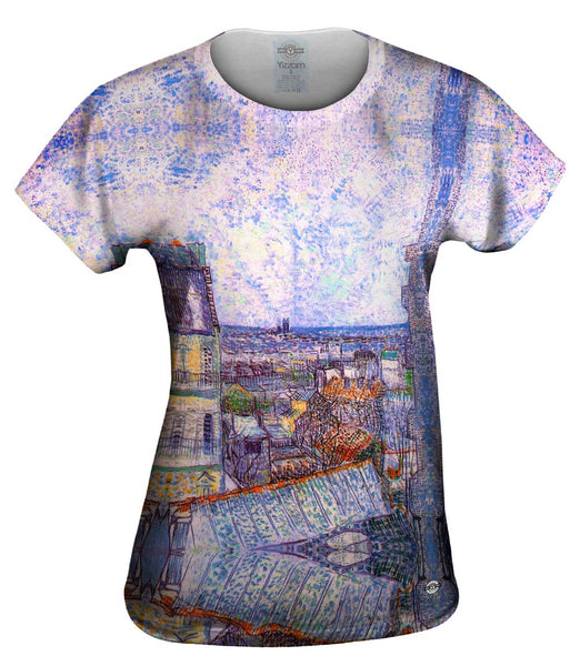 "Vincent Van Gogh  - ""View From Vincents Room In The Rue Lepic"" Womens Top"
