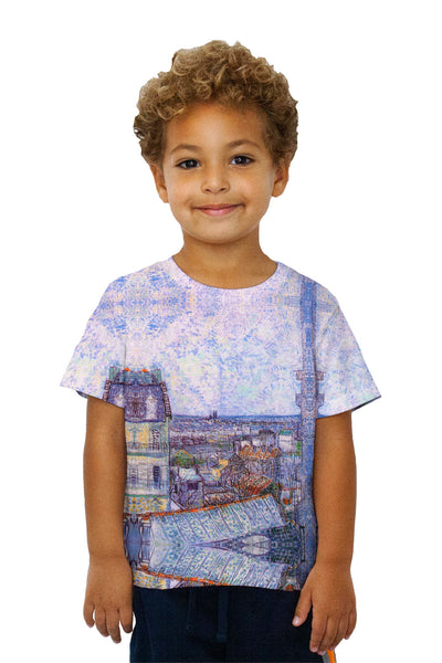 "Kids Vincent Van Gogh  - ""View From Vincents Room In The Rue Lepic"" Kids T-Shirt"