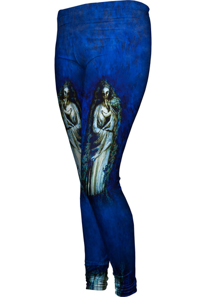 """Madonna With Garland"" Womens Leggings"